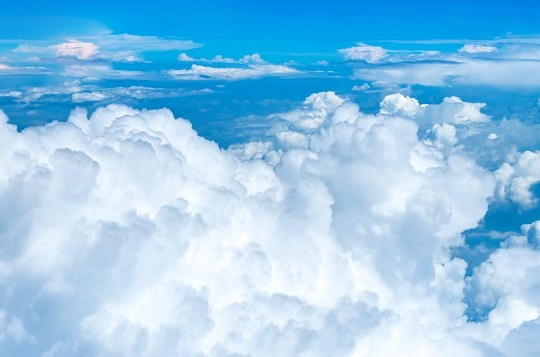 Aerial View ,Looking At Cloud On Airplane,Nature Landscape