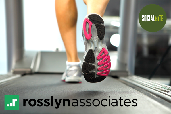 Rosslyn Associates charity treadmill marathon!