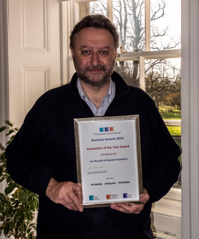 Ian McLeish With The Award