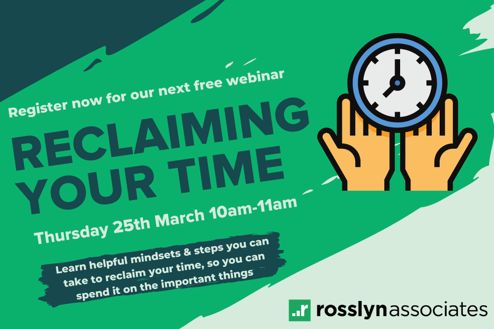 WEBINAR: Reclaiming Your Time